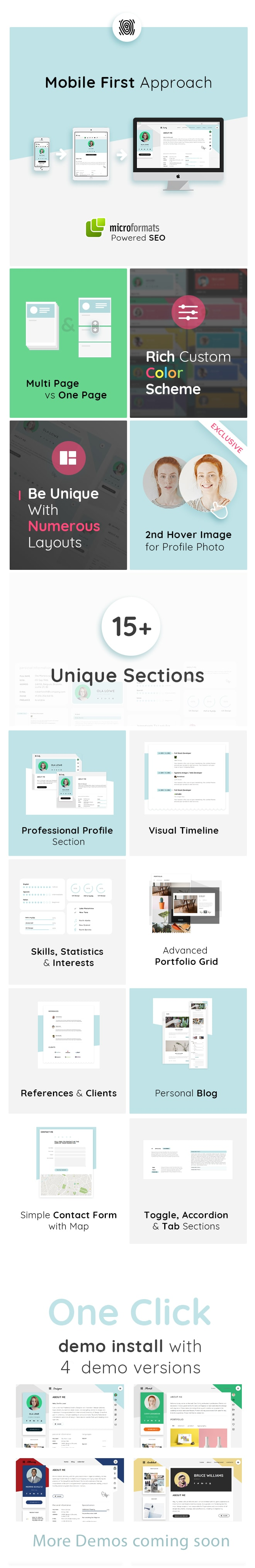 Certy - Resume, CV WordPress Theme