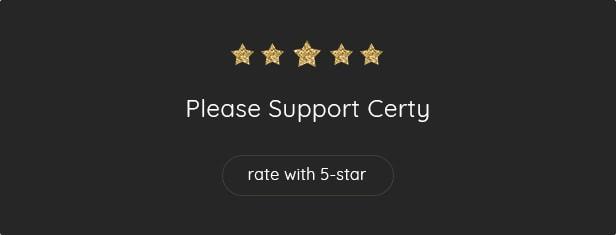 Please Rate Certy - Resume, CV WordPress Theme