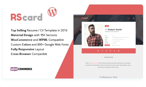 RScard Material WordPres Theme